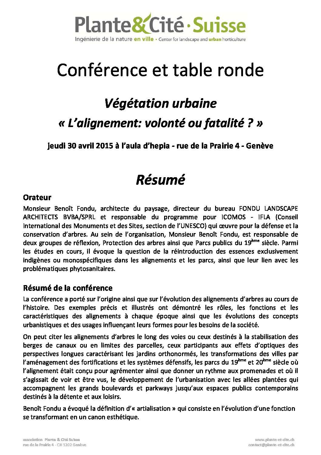 Conférence et table ronde: «L'alignement: volonté ou fatalité?»