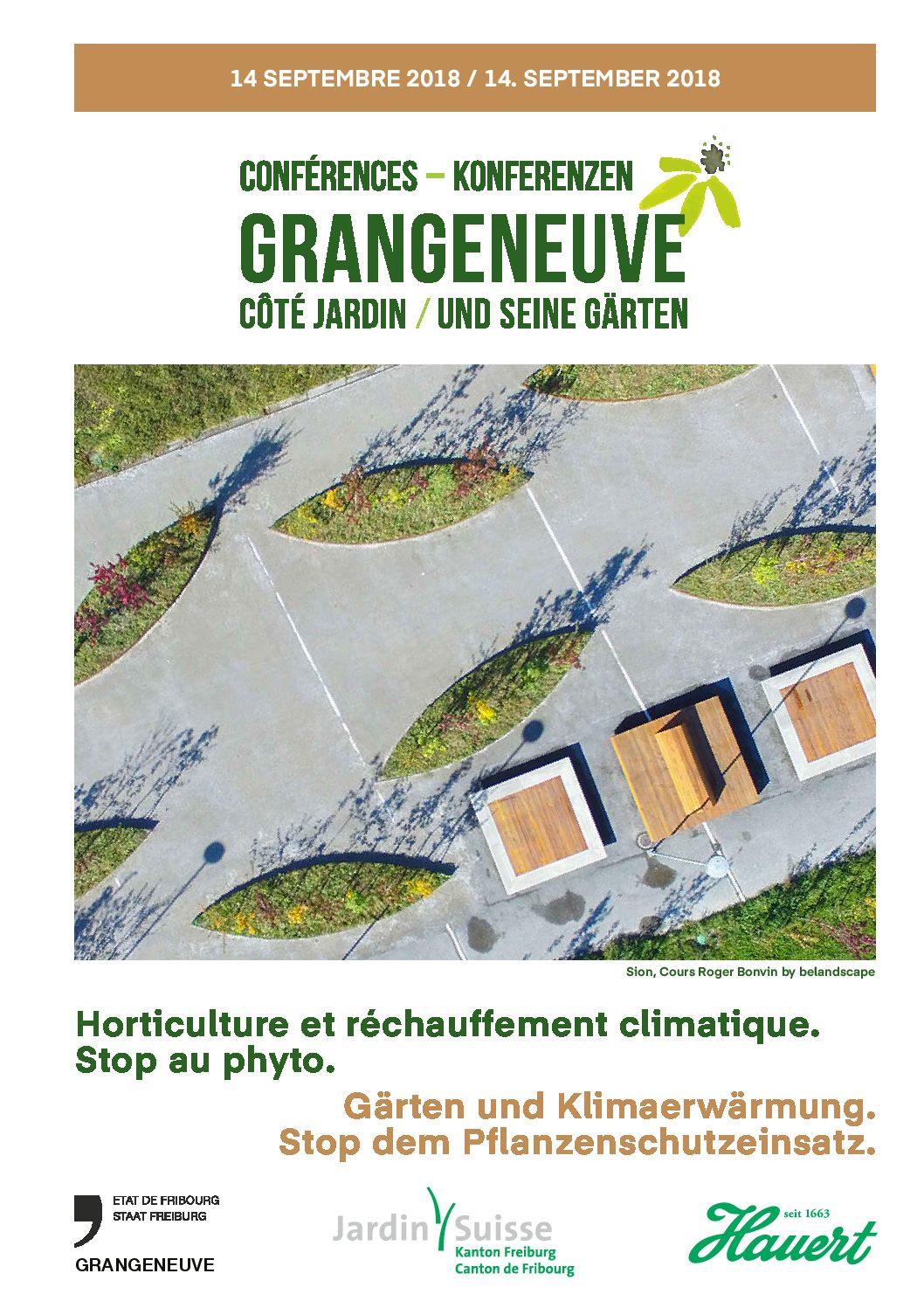 Conférence Grangeneuve – côté jardin: Horticulture et réchauffement climatique. Stop au phyto.