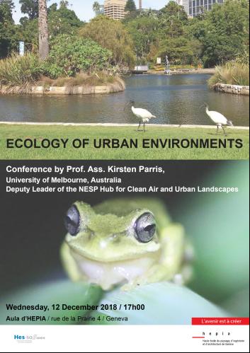 Conférence (en anglais) de Kirsten Parris sur l'écologie urbaine