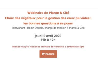 Les webinaires de Plante & Cité
